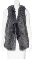 Vena Cava Faux Fur Single Button Vest