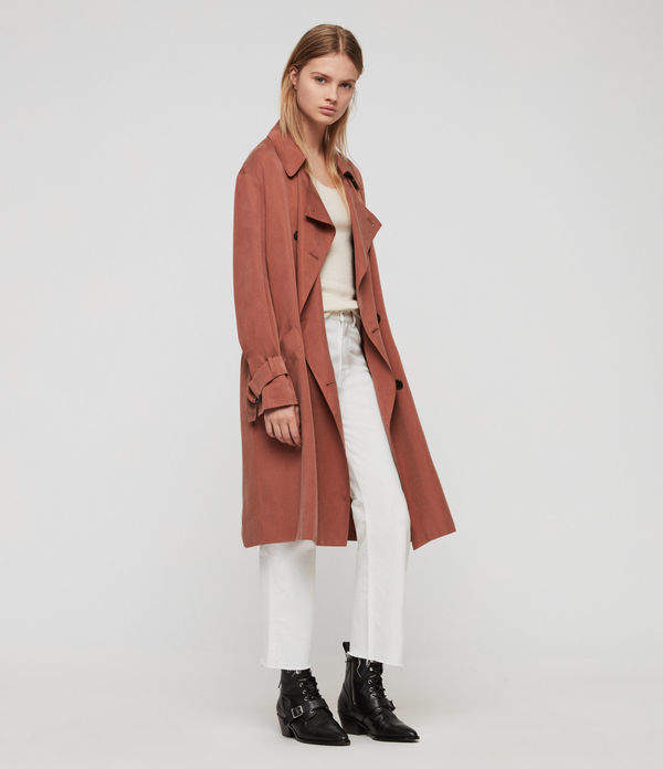 9f59b83d80ce AllSaints Brown Women's Outerwear - ShopStyle