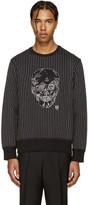 Alexander McQueen Black Skull Stitching Pullover