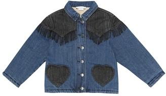 Stella McCartney Kids Fringed applique denim jacket