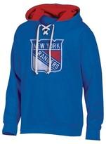NHL Men's Lace Up Pullover Hoodie Sweatshirt