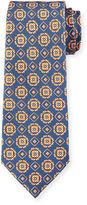 Isaia Circle-Medallion Printed Silk Tie