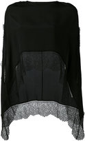 Faliero Sarti lace trim kaftan - women - Silk - One Size