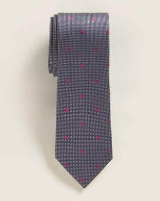 Isaac Mizrahi Boys 8-20) Navy & Pink Dot Tie