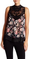 Romeo & Juliet Couture Sleeveless Floral Lace Blouse
