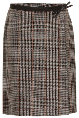 Prada Checked wool and cashmere miniskirt