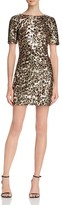 French Connection Leo Cheetah Print Sequined Dress