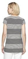 Merona Women's Short Sleeve Rayon Top - Stripes