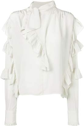 Isabel Marant frill-trim fitted blouse
