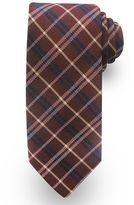 Haggar Extra-Long Plaid Wool-Blend Tie - Big & Tall