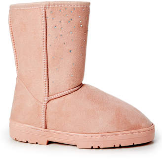 Blush B-Lush Via Rosa VIA ROSA Women's Cold Weather Boots Blush - Blush Rhinestone Studded Ankle Boot - Women
