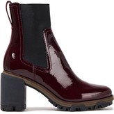 Rag & Bone Shiloh Textured Patent-leather Ankle Boots