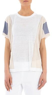 Peserico Short-Sleeved Linen Sweater