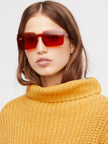 Free People So Square Shield Sunglasses
