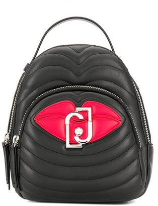 Liu Jo Quilted Lips Backpack