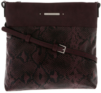Basque Julie Zip Top Red Crossbody Bag