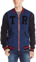 True Religion Men's Collegiate Fleece Full Zip Jacket