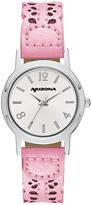 Arizona Womens Pink Strap Watch-Fmdarz147