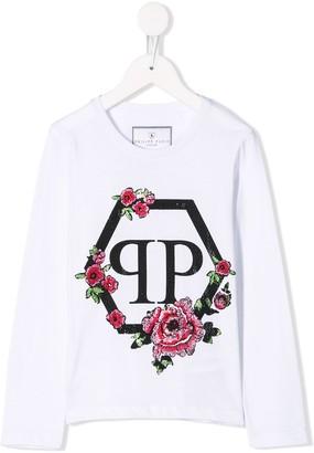 Philipp Plein Junior flowers T-shirt dress