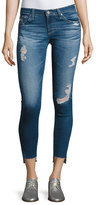 AG Adriano Goldschmied 14 Years Radiant Cropped Skinny Jeans with Step Hem, Indigo