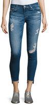 AG Adriano Goldschmied 14 Years Radiant Cropped Skinny Jeans with Step Hem, Indigo