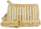 Magid Women's Handbags Natural - Natural & White Woven Straw Belt Bag