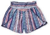 Ella Moss Jaya Printed Voile Shorts - Size 7-8y