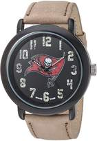 Game Time Men's 'Throwback' Quartz Metal and Leather Casual Watch, Color:Beige (Model: NFL-TBK-TB)