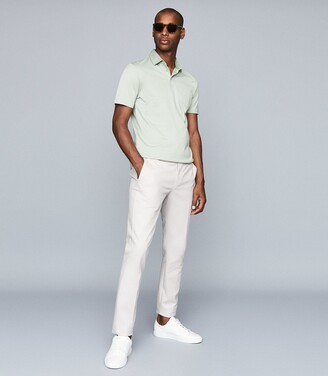 Reiss Elliot - Mercerised Egyptian Cotton Polo in Apple
