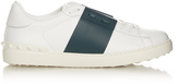 Valentino Two-tone low-top leather trainers