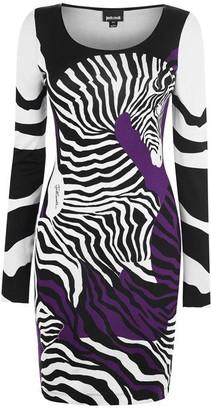 Just Cavalli Zebra Midi Bodycon Dress