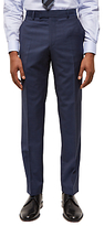 Jaeger Wool Hammerhead Regular Fit Suit Trousers, Chambray