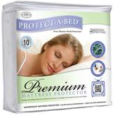 Concierge Collection Premium Protect-A-Bed Waterproof Mattress Protector - Queen