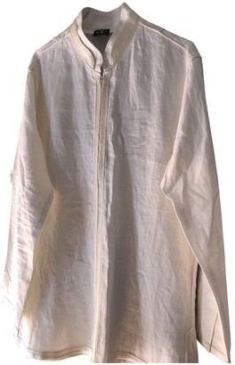 Non Signé / Unsigned Non Signe / Unsigned Hippie Chic White Linen Knitwear for Women