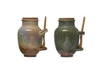 Creative Co-op Vintage Reproduction Stoneware Reactive Glaze Finish
