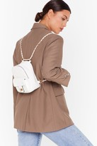 Nasty Gal Womens WANT No Quilt Faux Leather Backpack - white - One Size