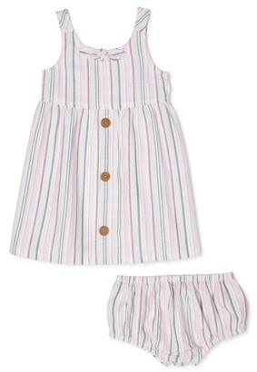 Wonder Nation Baby Girls Stripe Dress & Diaper Cover