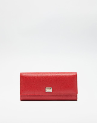Dolce & Gabbana Continental Wallet In Dauphine Leather