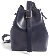 Creatures of Comfort Small Smooth Leather Apple Bag - Blue