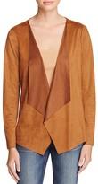 Vero Moda Bento Lace-Back Faux Suede Jacket