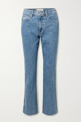 SLVRLAKE Hero High-rise Straight-leg Jeans - Mid denim