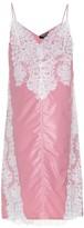 Lace-paneled slip dress