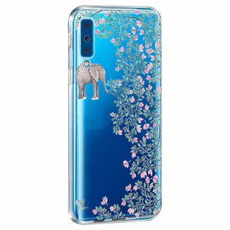 Jeack Compatible with Samsung Galaxy A7 2018 case flexible soft silicone transparent thin [anti-yellow] mobile phone case with bumper anti-scratch protection bumper case for Samsung Galaxy A7 2018 - Multicolour - Medium