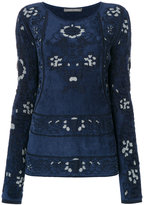 Alberta Ferretti patterned long-sleeved top