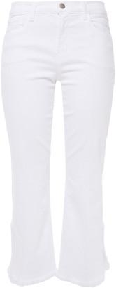 J Brand Selena Frayed Mid-rise Kick-flare Jeans