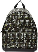 Fendi Green and Black Camouflage Nylon Backpack