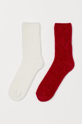 H&M 2-pack Chenille Socks
