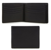 Dents Black Embossed Logo Wallet