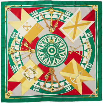 Hermes Sextants, By Carre Silk Scarf