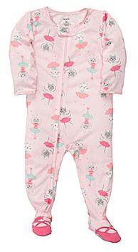 Carter's Dancing Animals Footed Pajamas - Girls 12m-24m